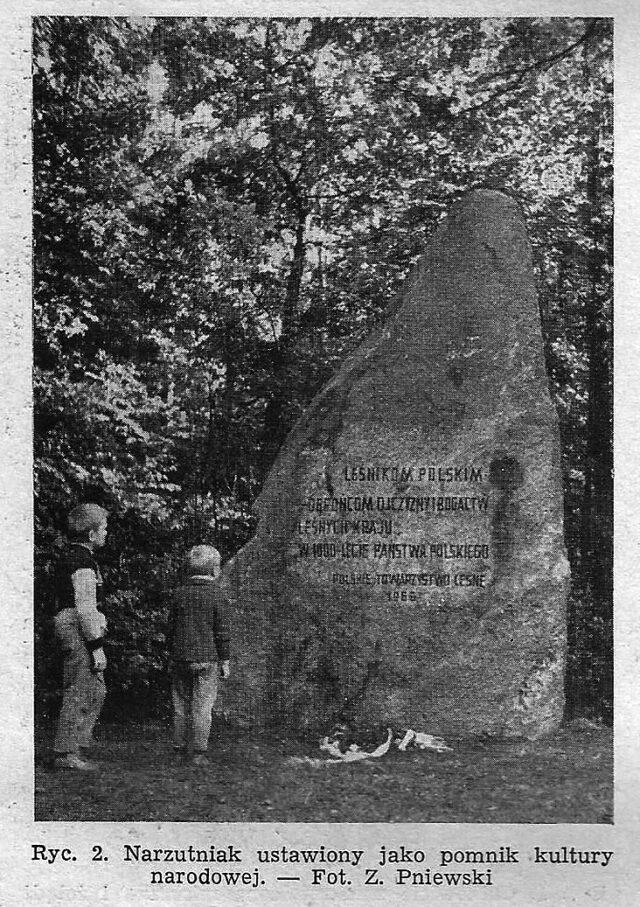 Narzutniak ustawiony jako pomnik kultury narodowej - fot. Zygmunt Pniewski