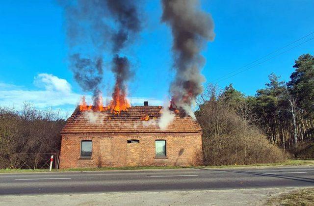 Pożar w Krosinku