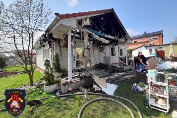 Spalony dom w Czempiniu