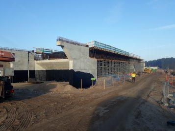 Budowa mostu w Rogalinku fot. WZDW