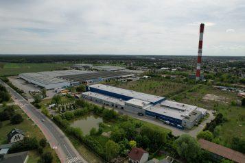 Stora Enso i strefa przemysłowa w Mosinie z lotu ptaka