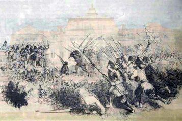 Bitwa pod Rogalinem - pałac w Rogalinie w tle