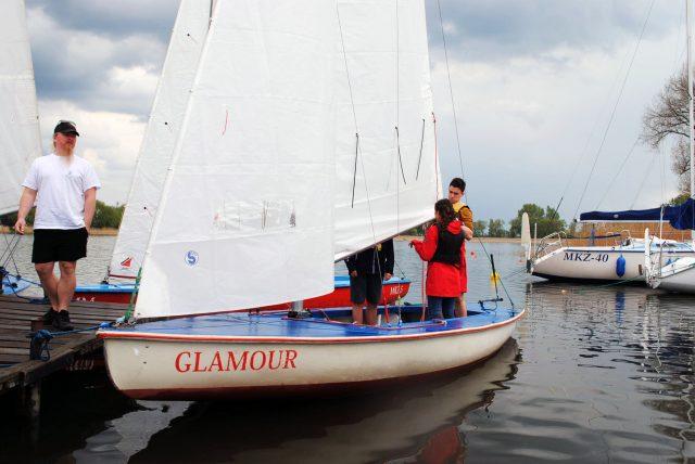 Jachty na przystani w Dymaczewie Nowym - Mosiński Klub Żeglarski
