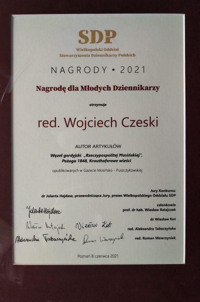 Wyróżnienie dla Wojciecha Czeskiego