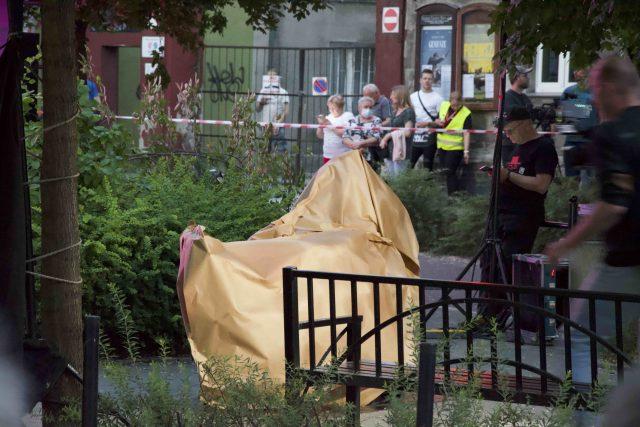 Odsłonięcie pomnika Bohdana Smolenia