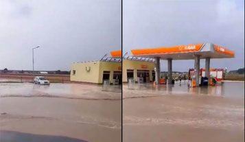 Żabno - zalana stacja paliw
