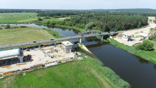Budowa nowego mostu w Rogalinku fot. WZDW