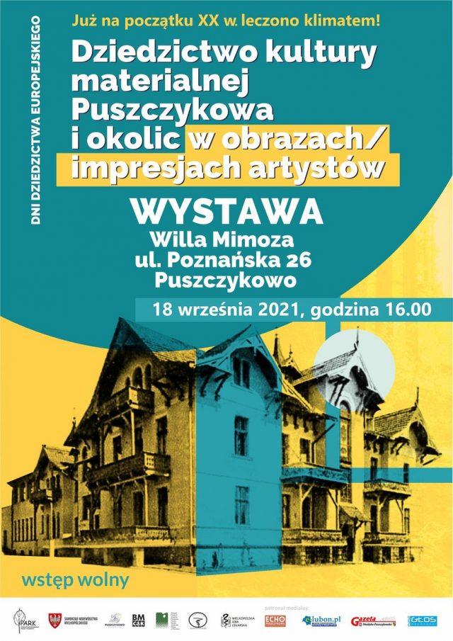Dziedzictwo kultury materialnej Puszczykowa i okolic w obrazach/impresjach artystów. Wystawa odbędzie się 18 września br. o godz.: 16:00 w willi Mimoza
