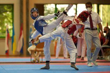 Faustyna Tomczak w trakcie zawodów Taekwondo Polish Open 2021