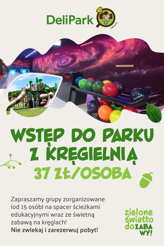 Deli Park - wstęp do parku z kręgielnią - 37zł/osoba