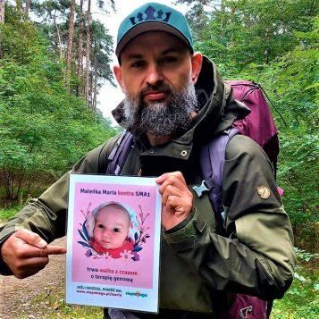 Marcin Szwarc w trakcie wyprawy. Jej celem jest zebranie środków na leczenie Marysi, która choruje na SMA.