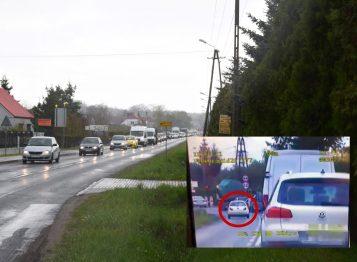 Ruch wahadłowy przed mostem w Rogalinku - mandat za przejazd na czerwonym świetle