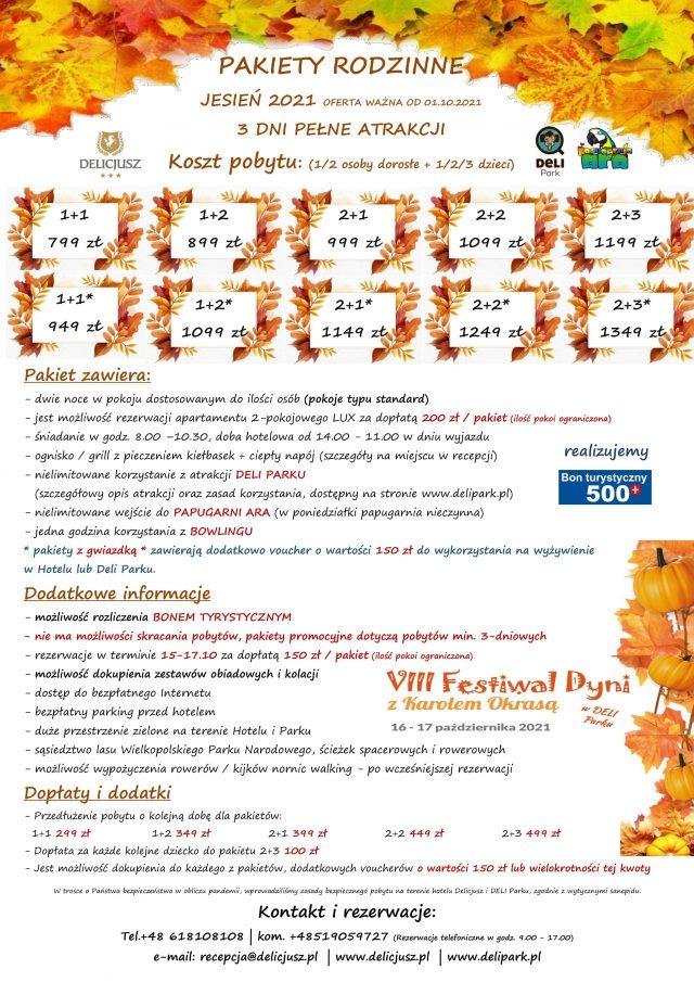 PAKIETY rodzinne w Deli Park - jesień 2021